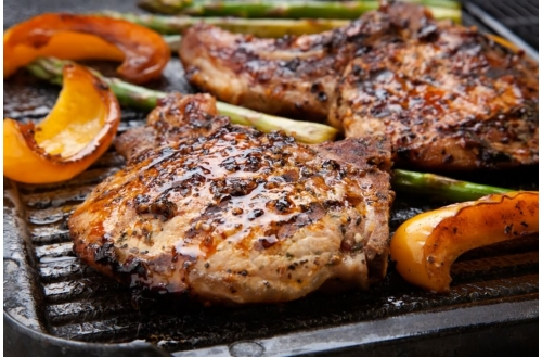 Herb Marinated Grilled Porkchops
